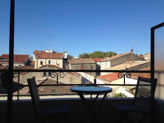 Bel appartement 3 pièces au soleil, 2/4 pers - Montpellier - Appartement