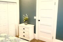Bedroom number one has a nice sized closet and room for your personal items!