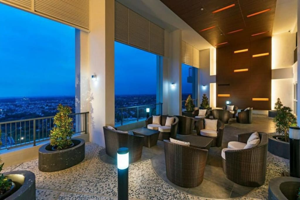 Sky Garden on level 20 can be used for guest