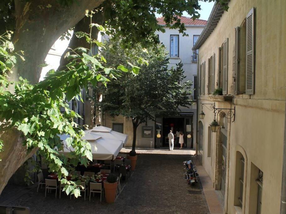 L'appartement donne vue sur la Place Plaisance / View from the window
