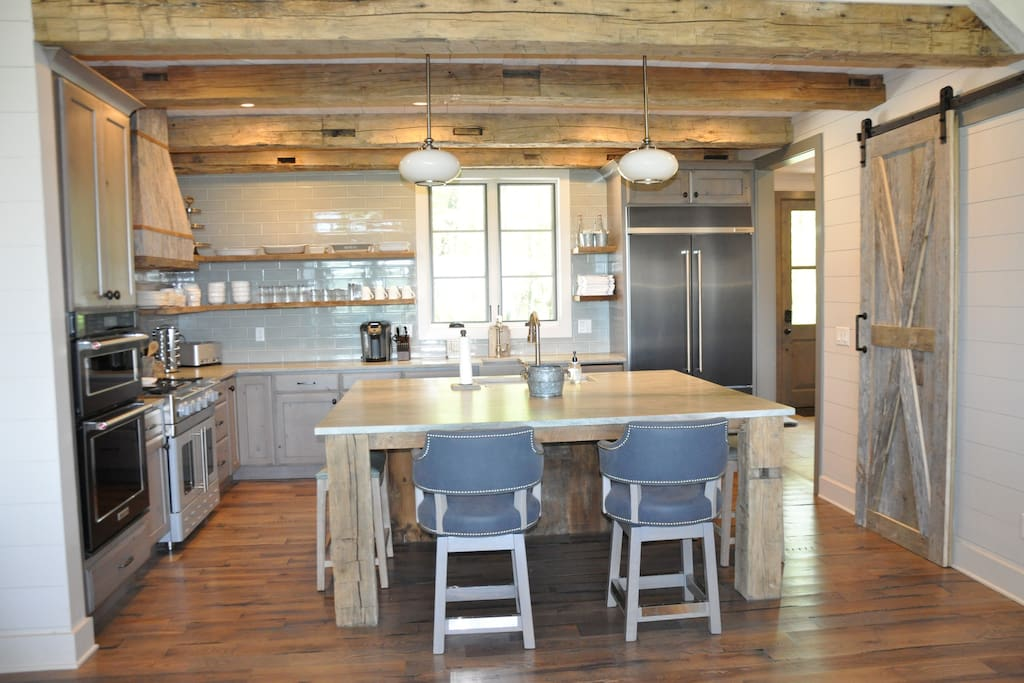 Well-equipped Gourmet Kitchen with large center island that seats 4