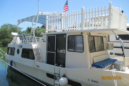 Nature Lovers Houseboat in the Keys - Boot