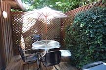 Back patio off kitchen/breakfast nook