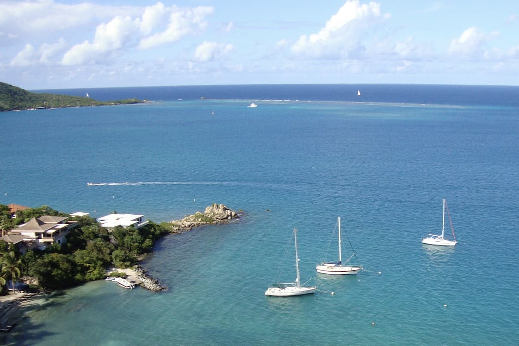 """Situated on the hillside overlooking Leverick Bay it did not disappoint. Beautiful views of Leverick bay, Mosquito island and Prickly Pear island with warm breezes and plenty of sailings vessels to watch it is a pure delight."" Guest comment"