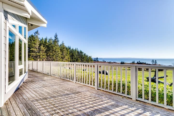 Lovely, oceanfront home with multiple sea views & beach access!