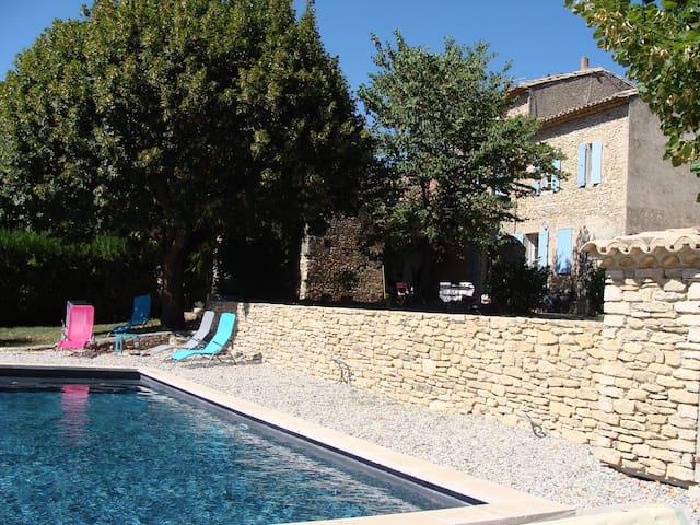 Ferme provençale avec piscine chauffée 2 km Vaison - Saint-Marcellin-lès-Vaison - Casa