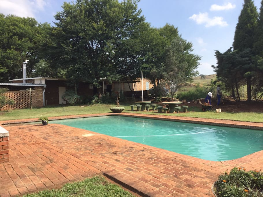 Swimming pool in the property for all guests.