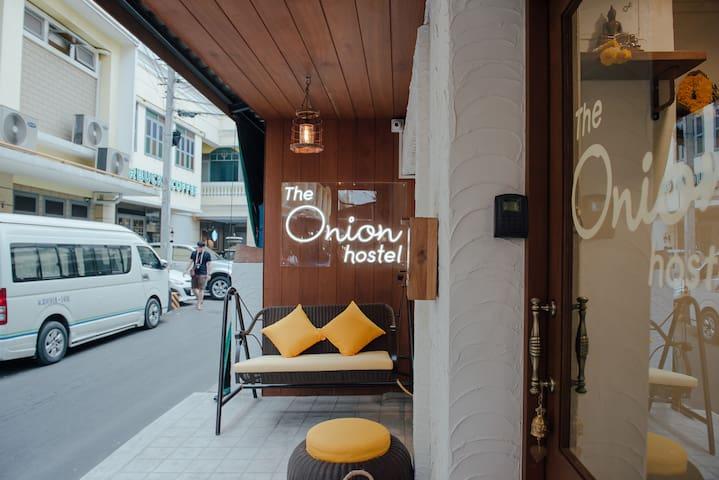 The Onion Hostel at Flower Market (mixed dorm)