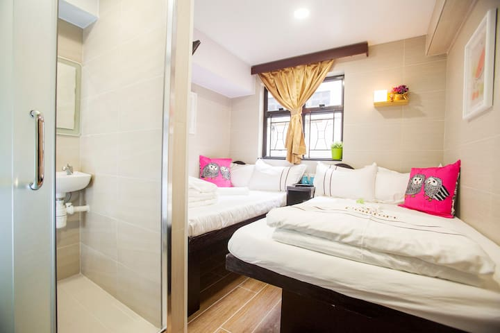 Family Room With Private BathroomE2 - 尖沙咀 - Apartament