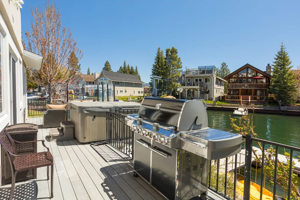 You can grill if you choose, or just relax in the hot tub.