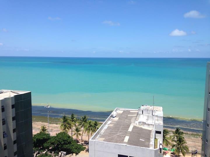 Flat incrível de frente para o mar de Boa Viagem
