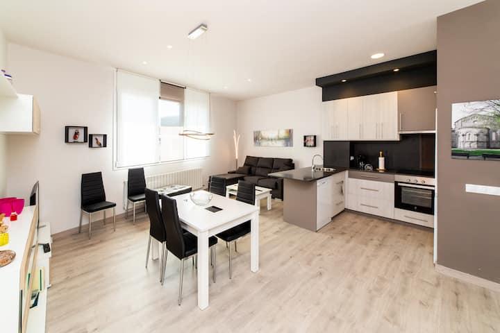 Apartament nou planta baixa Can 18. Llum i disseny