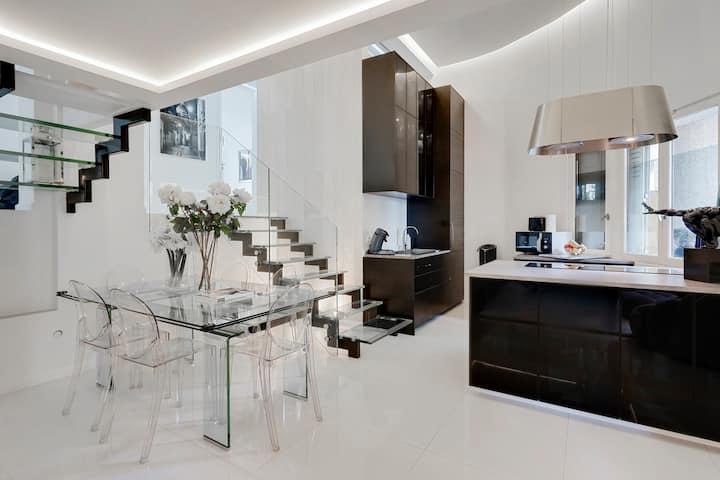 Luxury 3 bedroom duplex 200m from Parc des Princes