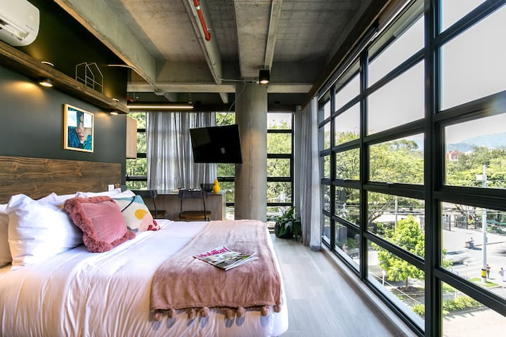 Industrial architecture meets chic design