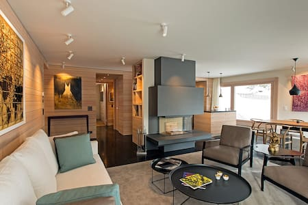 Luxury St Moritz apartment with lake view (3bd) - Saint Moritz - Serviced apartment