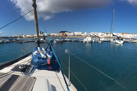 Stay on a Sail Boat on a Real Desert Island - Caleta del Sebo