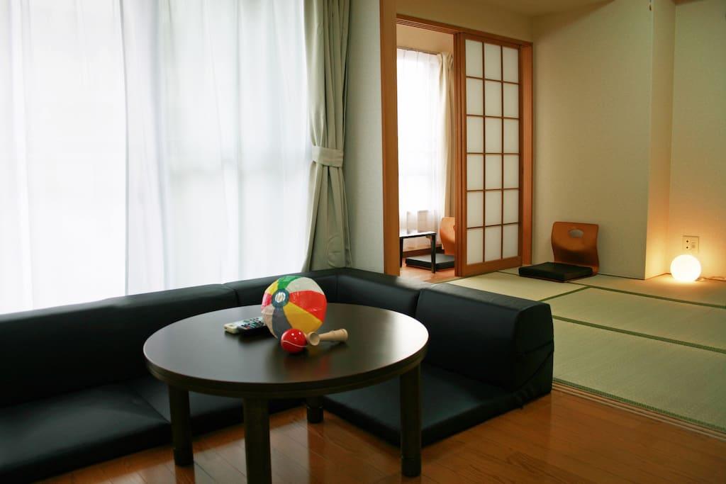 Kotatsu table and Tatami room