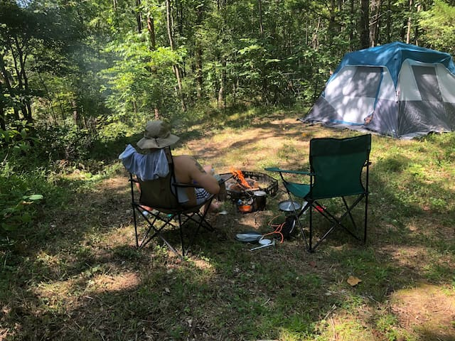 Kick back and relax at your private campsite