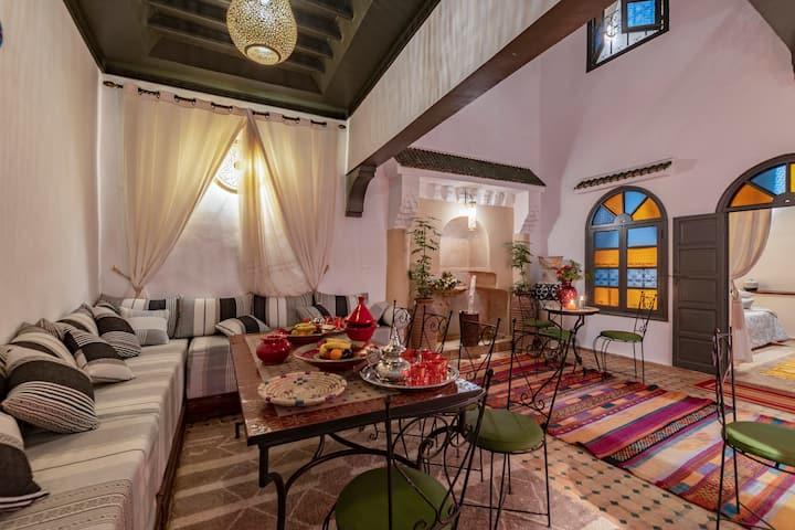 Belle Chambre confort dans riad rénové | Médina