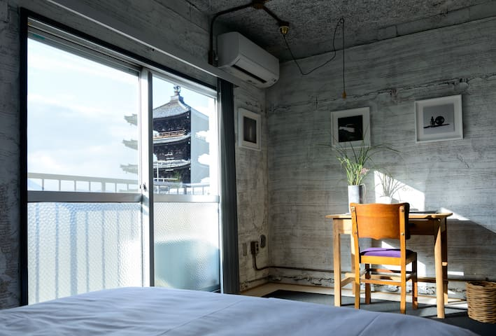 New Open!! Best Located Hotel in Yasaka (Double C)