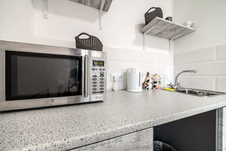 Microwave & other amenities