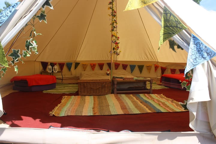 The Valley Furnished  Bell tent