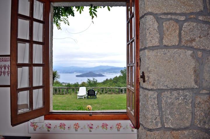 Habitación N.4 en la casa Rural A Bouza