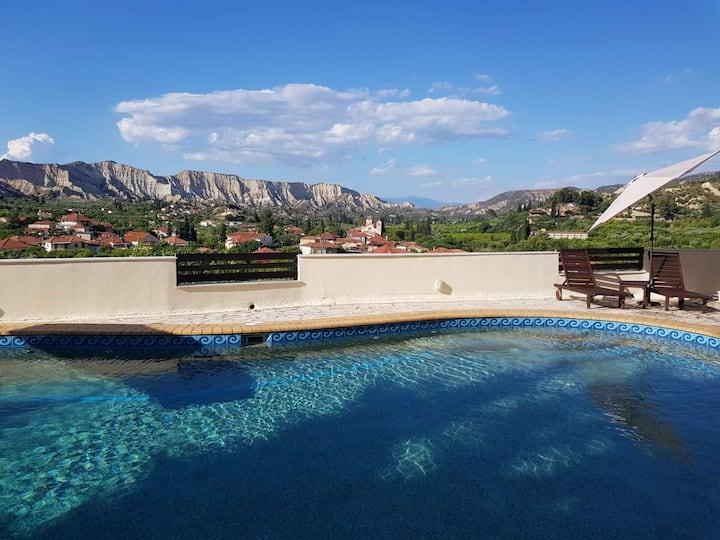 Sunny villa with private pool!!