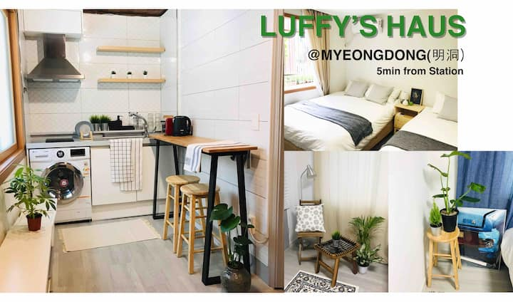 Luffy's HAUS@MyeongDong station /2BR/1Bath
