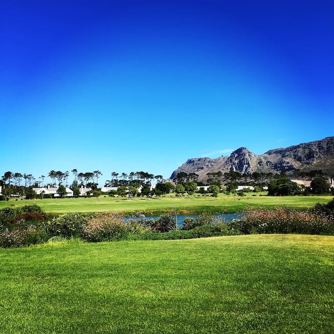 View of the golf course from the house