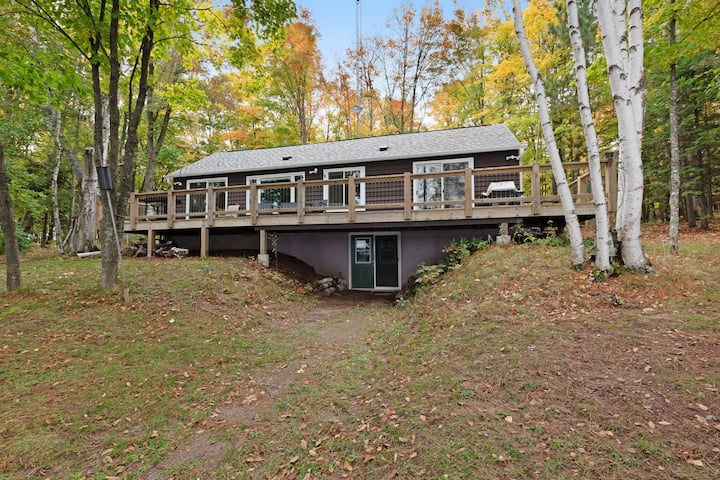 Dog-friendly lakefront home w/ dock, Twin Islands views and trail access!