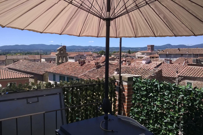 Terrazzo panoramico sul tetto