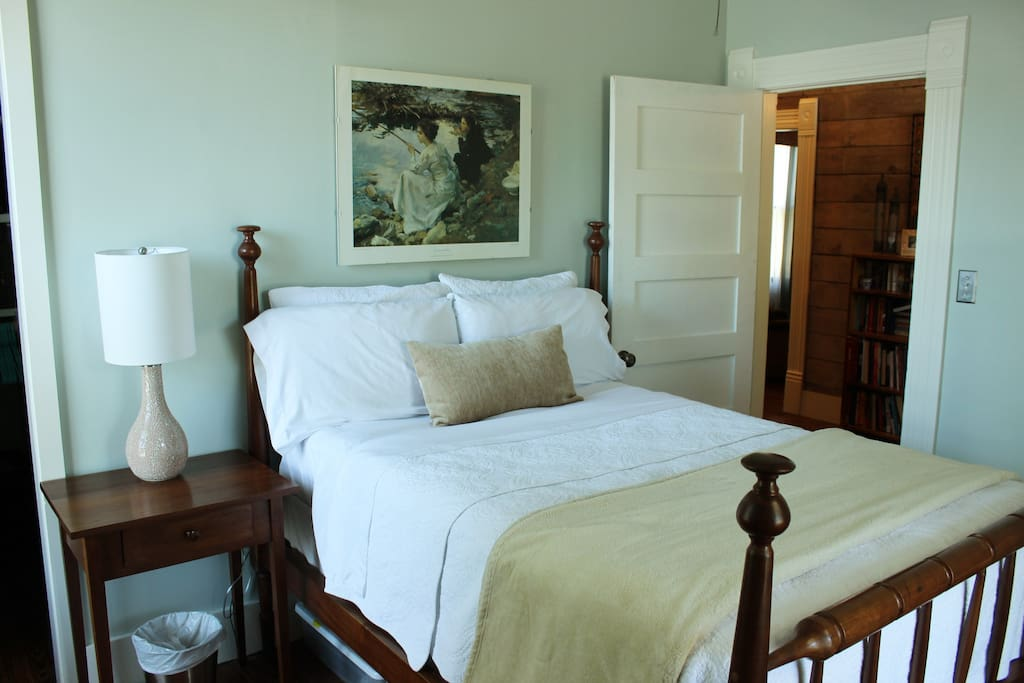 Your room: Double sized bed, Serta Perfect Sleeper mattress