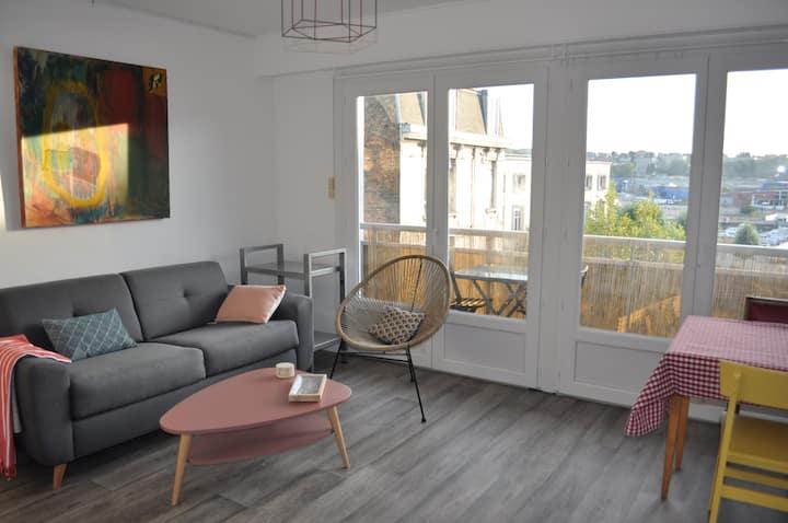 Appartement douillet entre port et centre-ville