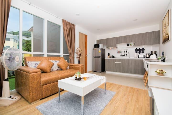 Designed 1 Bedroom Apartment @Kata, beach - 900 m