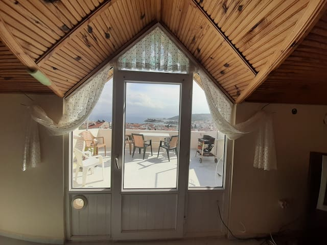 Terrace in Datca center.  70m2 house.