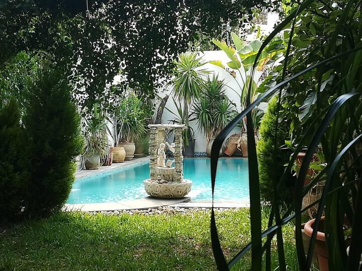 Villa contemporaine avec piscine et jardin