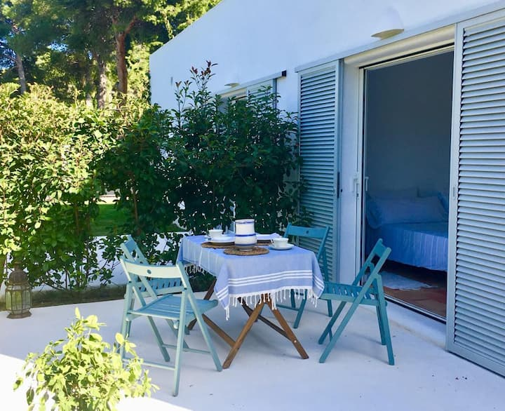 Habitación Privada con jardín,  B & B , 2 camas