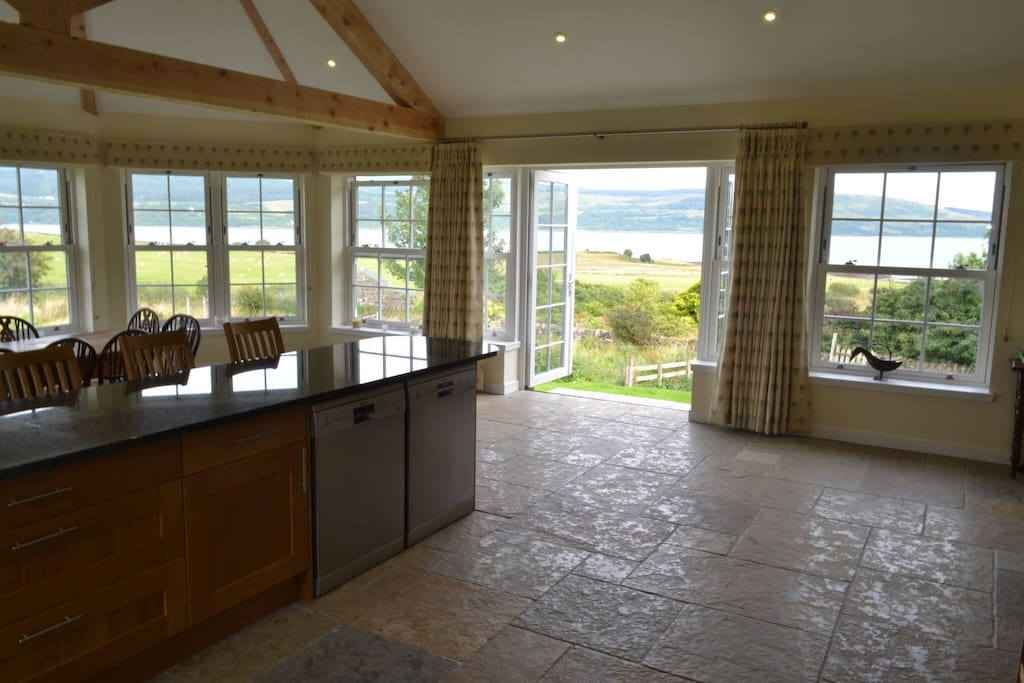 The kitchen has outstanding views.