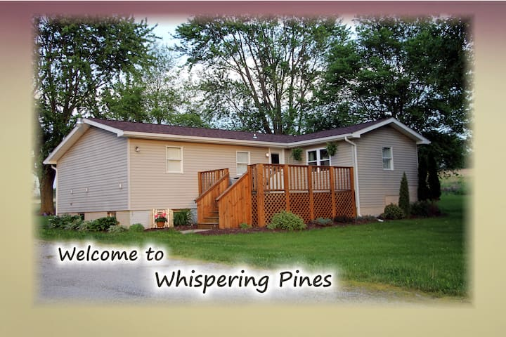 Whispering Pines Getaway, super relaxing place