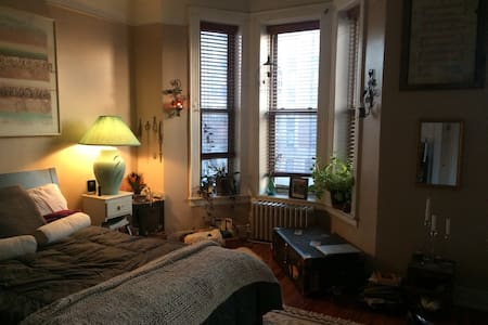 Sunny bedroom in Peaceful home - Brooklyn - House