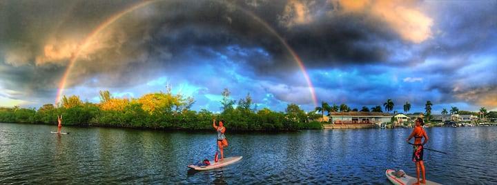 rainbow in the oxbow