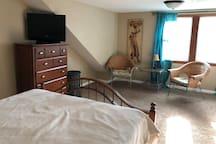 T.V. in master bedroom
