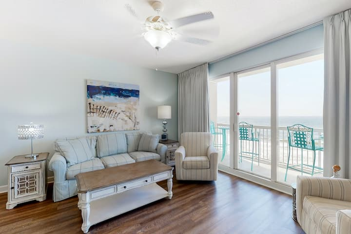 Fun beach getaway with beautiful views, shared pools, and beach access!