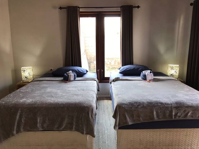 Wayan's Family Guesthouse - Twin Bedroom
