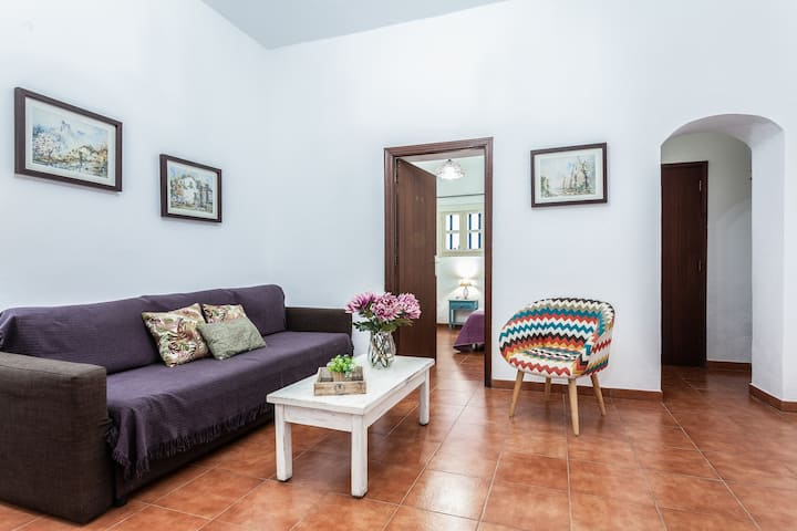"""Spacious Holiday Home """"Casa del Cuartel III"""" with Wi-Fi & Courtyard; Pets Allowed, Parking Available"""