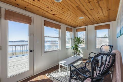 감동적인 전망을 즐길 수 있는 호숫가 전원주택!