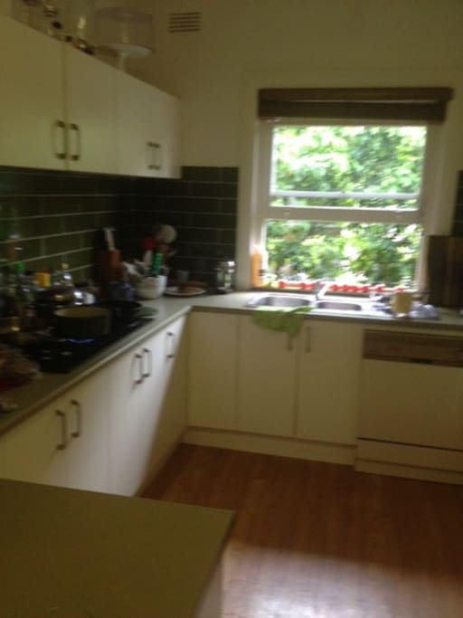 A large and very accessible kitchen for all your cooking needs....