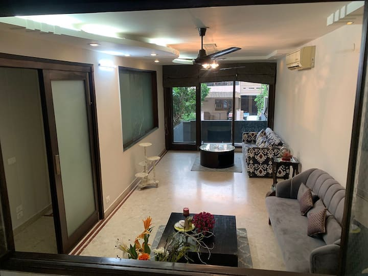 charming 3 BHK private apartment, GK2, South Delhi