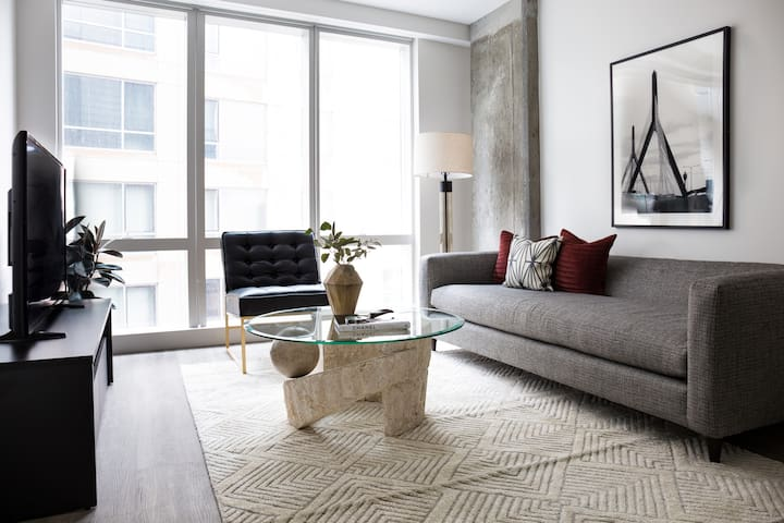 Sonder | Pierce Boston | Sleek 1BR + Gym